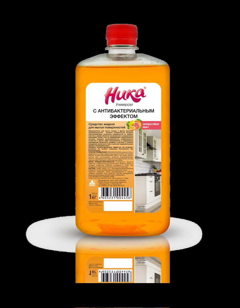«Ника-Универсал с антибактериальным эффектом» Средство жидкое для мытья поверхностей 1кг